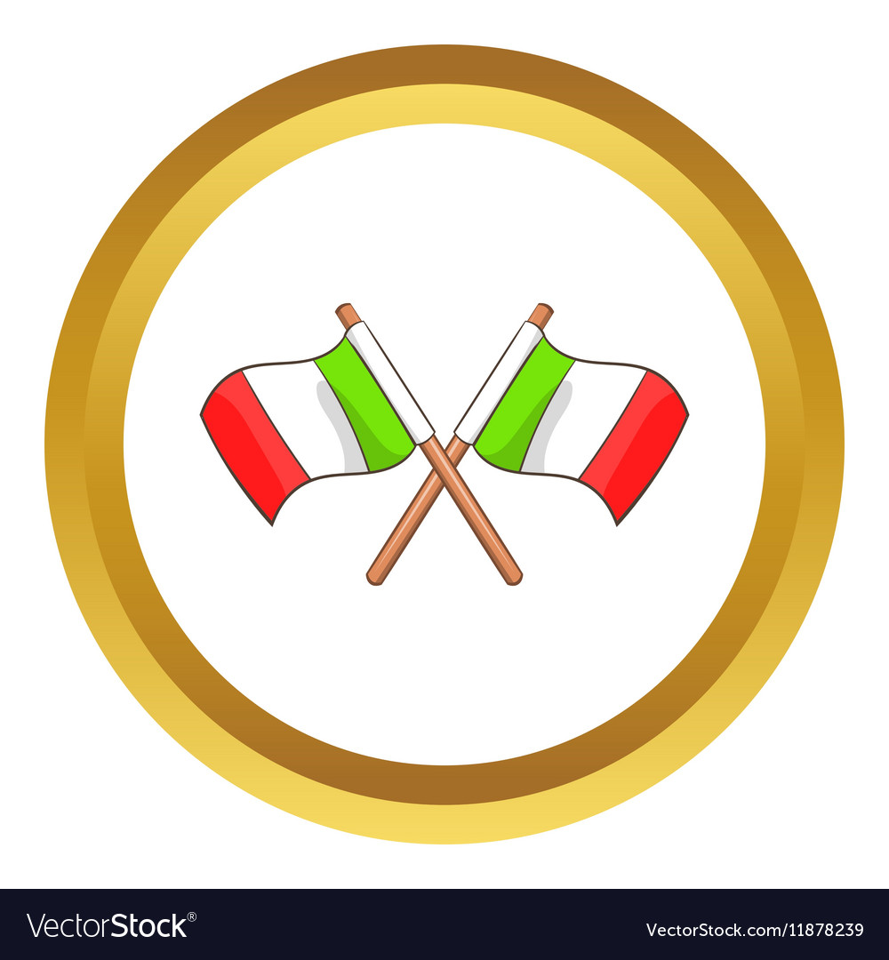 Italy crossed flags icon