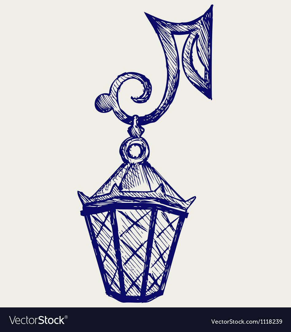 Lantern from the forged metal