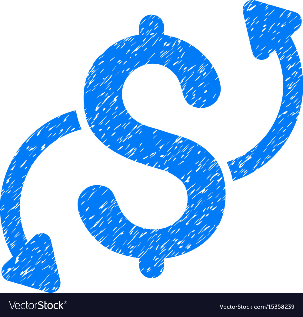 Money transfer grunge icon vector image