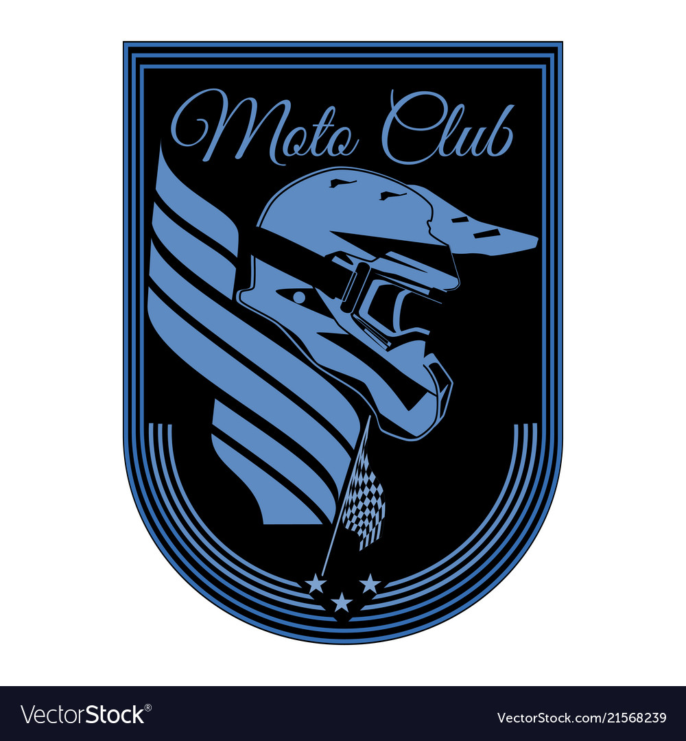 Motorcycle club badge logo emblem template