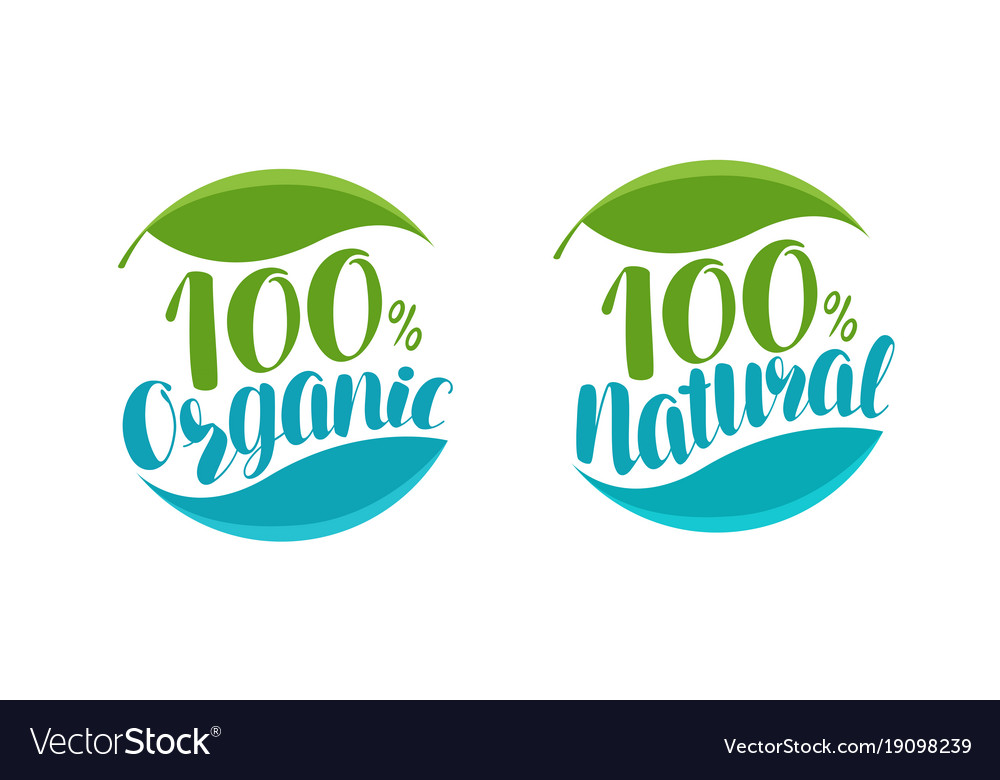 Natural organic product logo or label