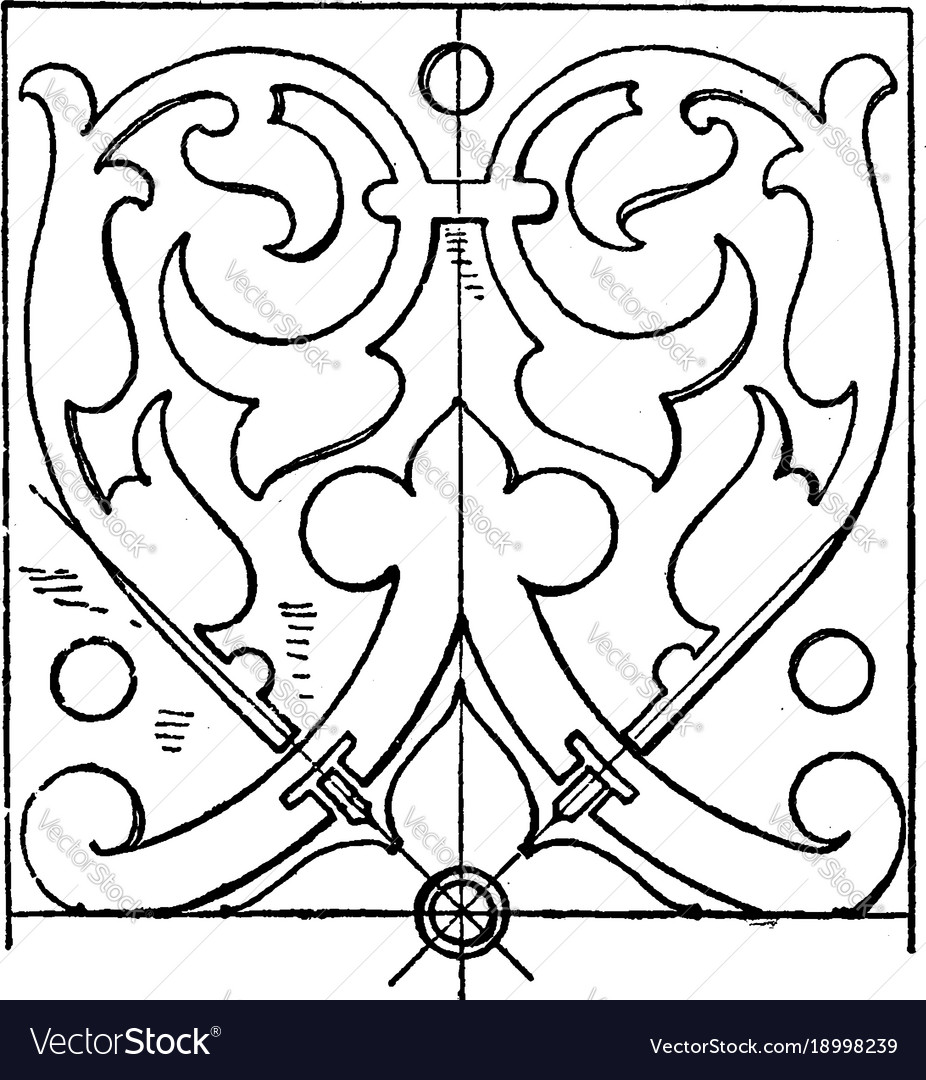 Renaissance oblong panel is a design found on a vector image