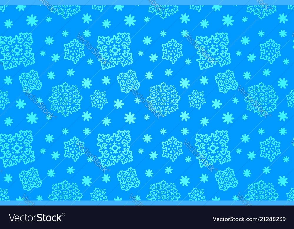 Seamless blue winter pattern with snowflakes