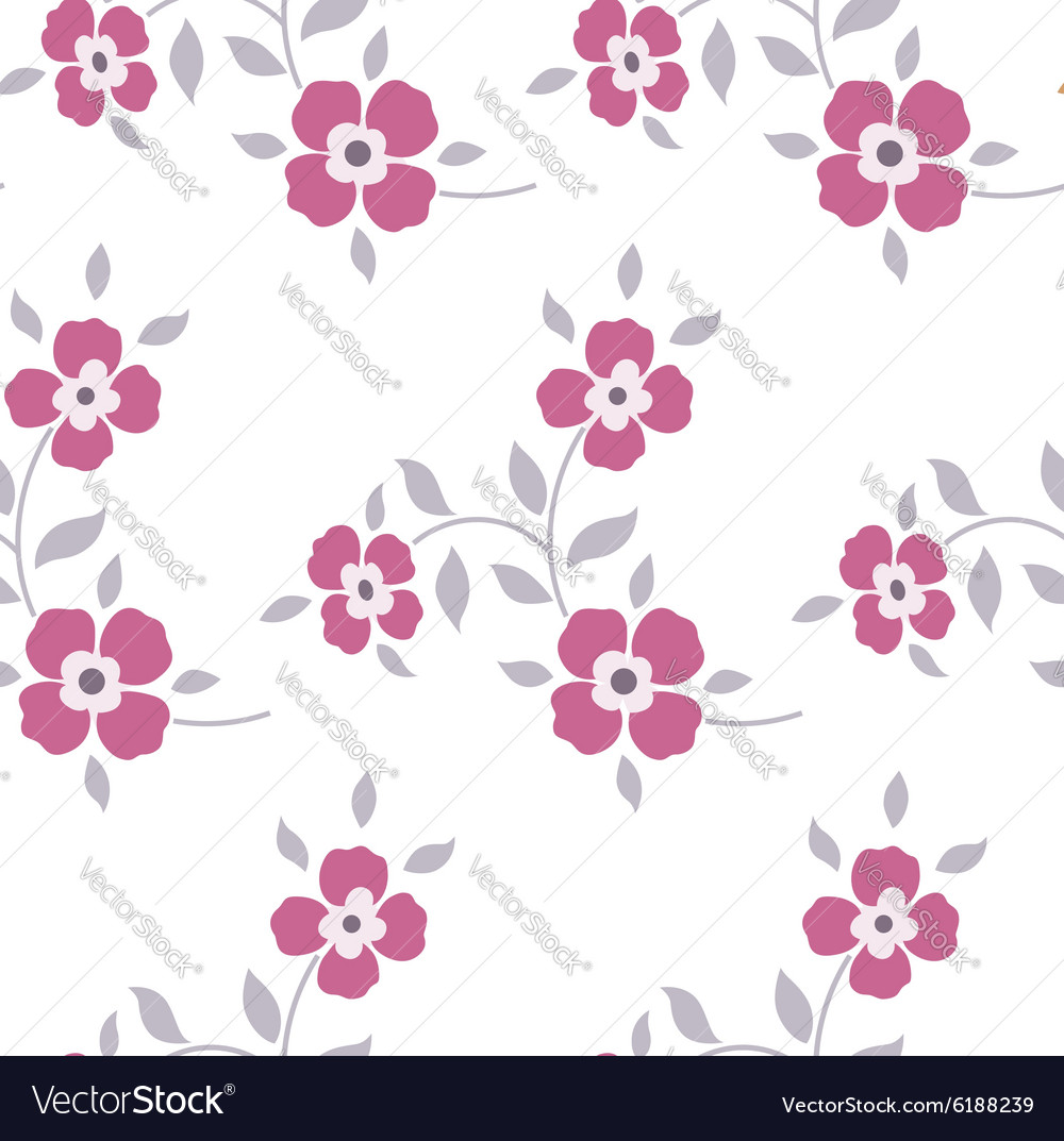 Seamless floral pattern Marsala flowers leaves vector image