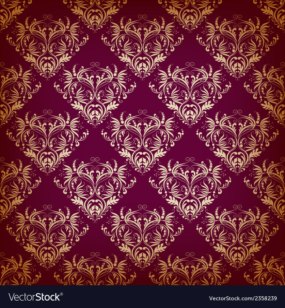 Seamless pattern in Victorian style