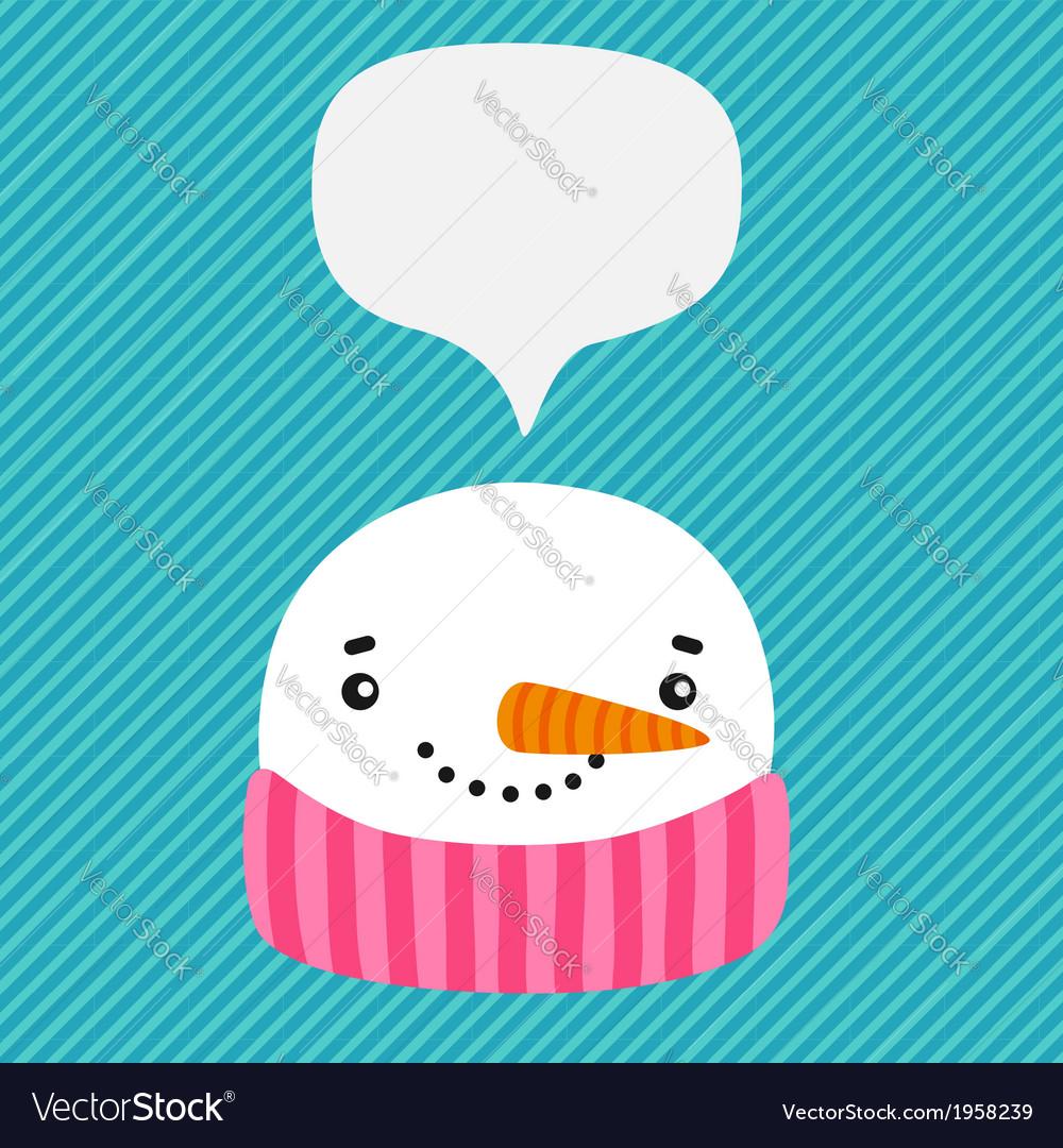 Snowman with speech bubble