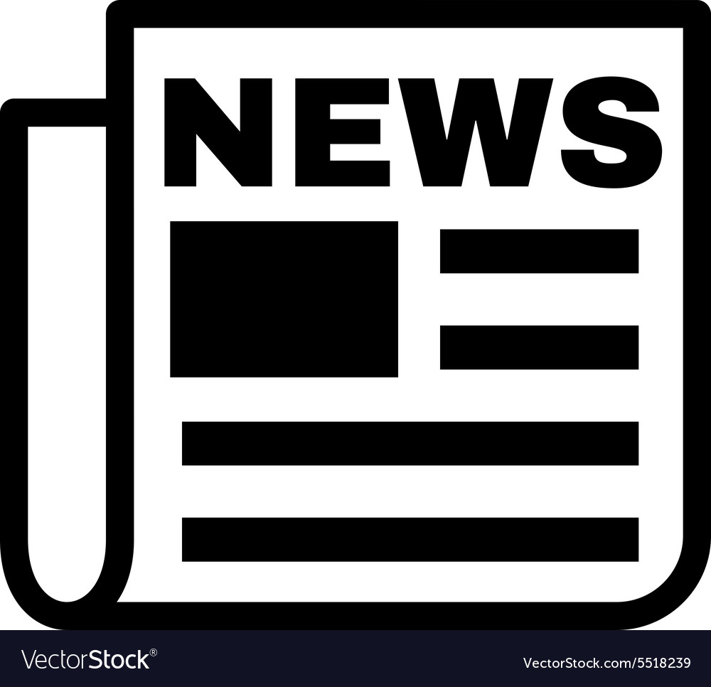 the news icon newspaper symbol flat royalty free vector
