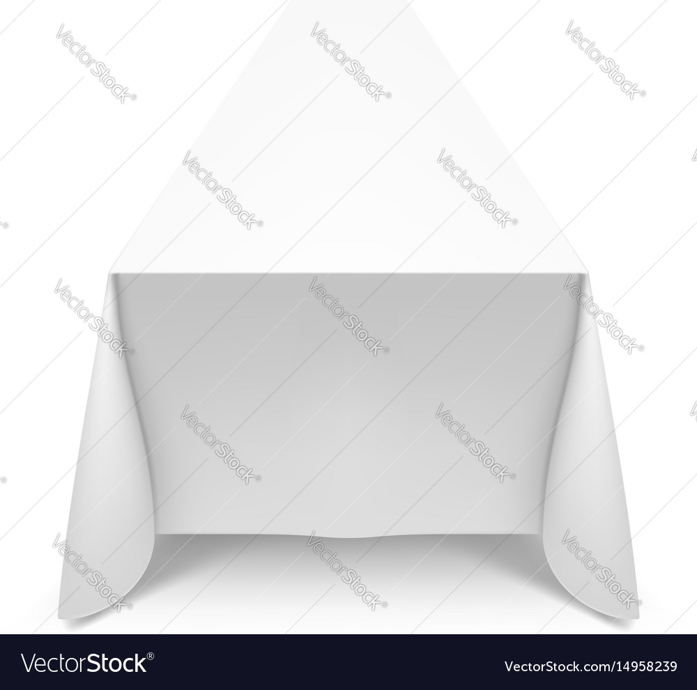 White tablecloth on white background for design vector image