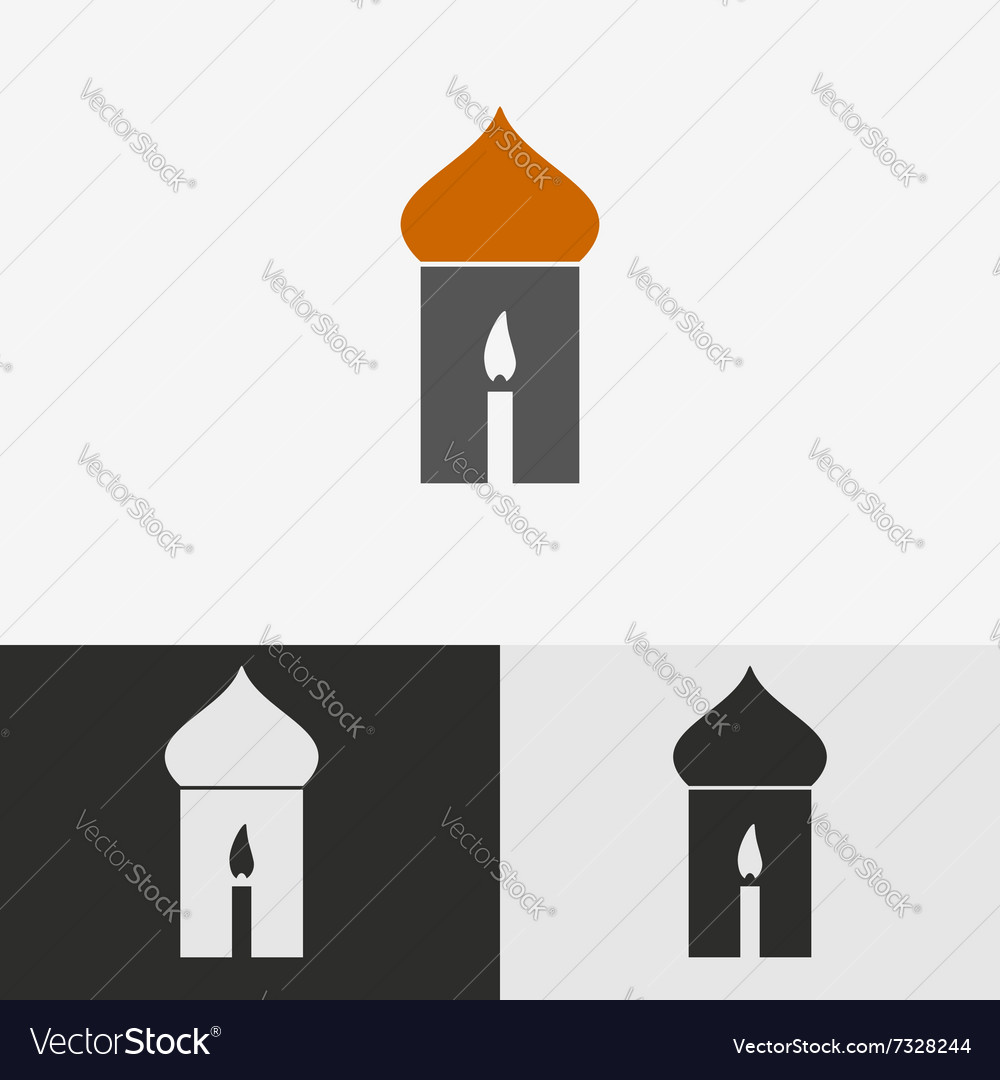 Candle Religious Symbol Royalty Free Vector Image