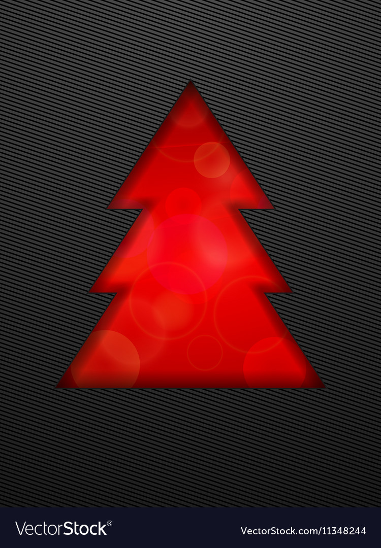 Creative Christmas tree cut in black background