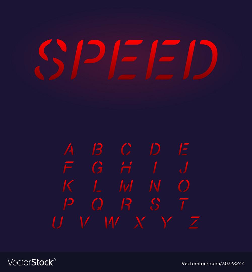 Custom made alphabet letters set