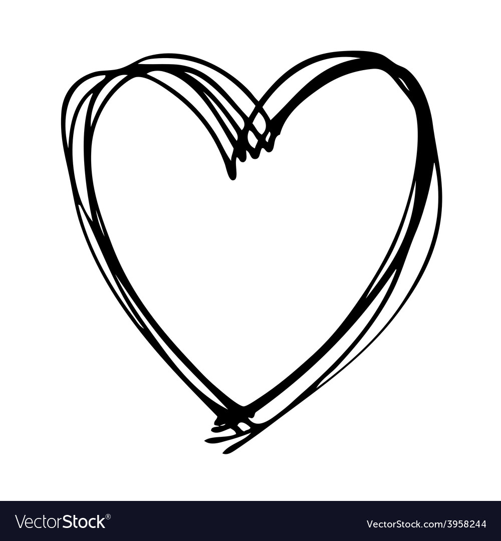 Heart Scribble Heart Outline Svg