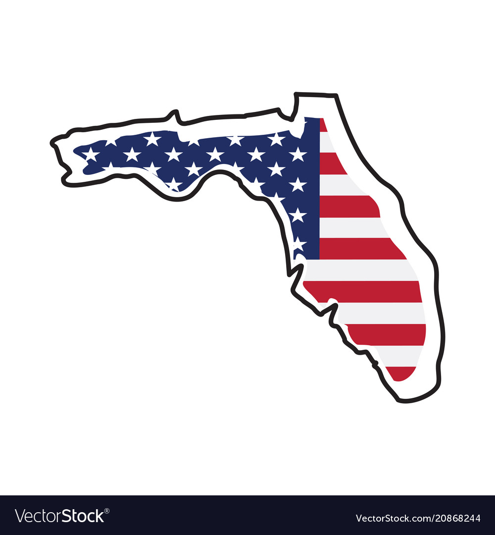 Isolated map of the state of florida