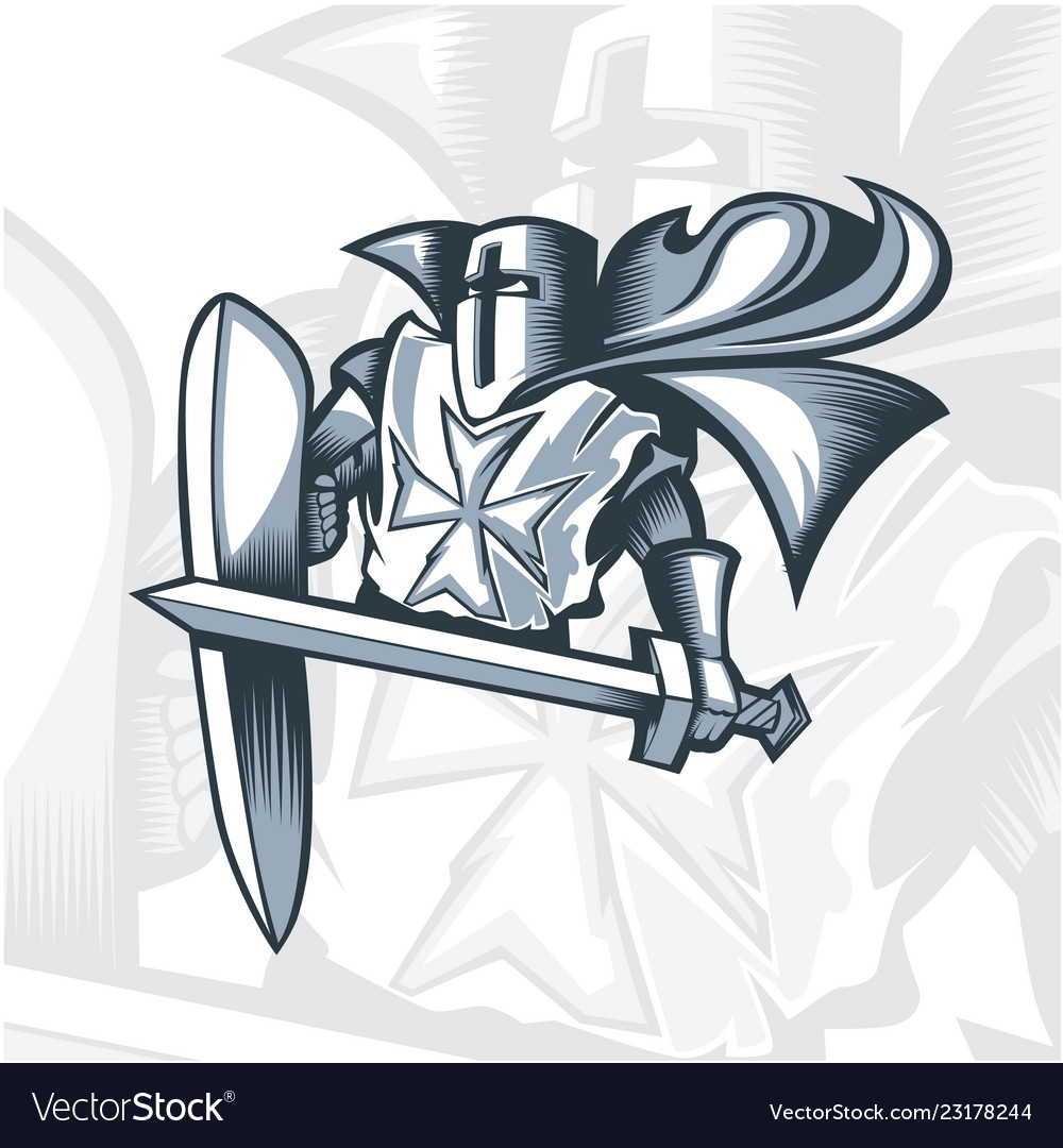 Monochrome valiant knight crusader