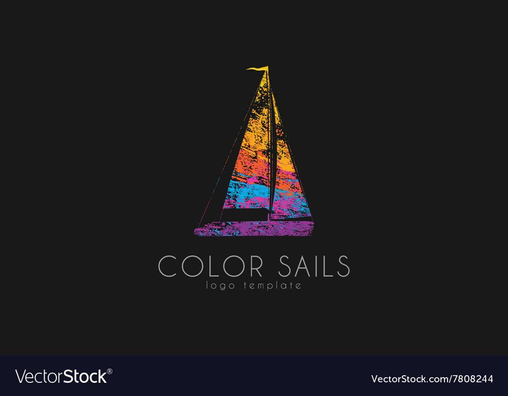 Sails logo Color sails Boat logo Sailing logo