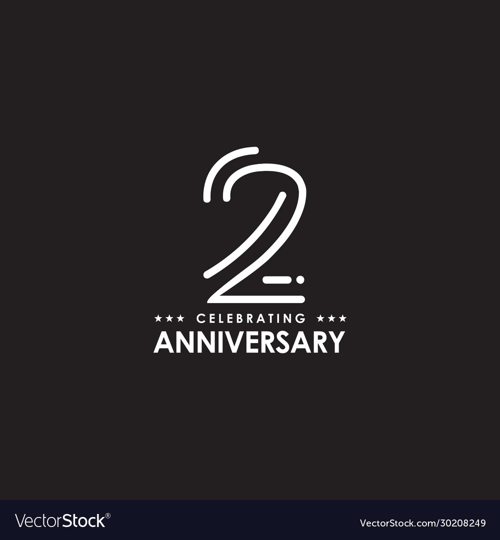 2nd Year Anniversary Logo Design Template Vector Image,Types Of Hamsters Breed