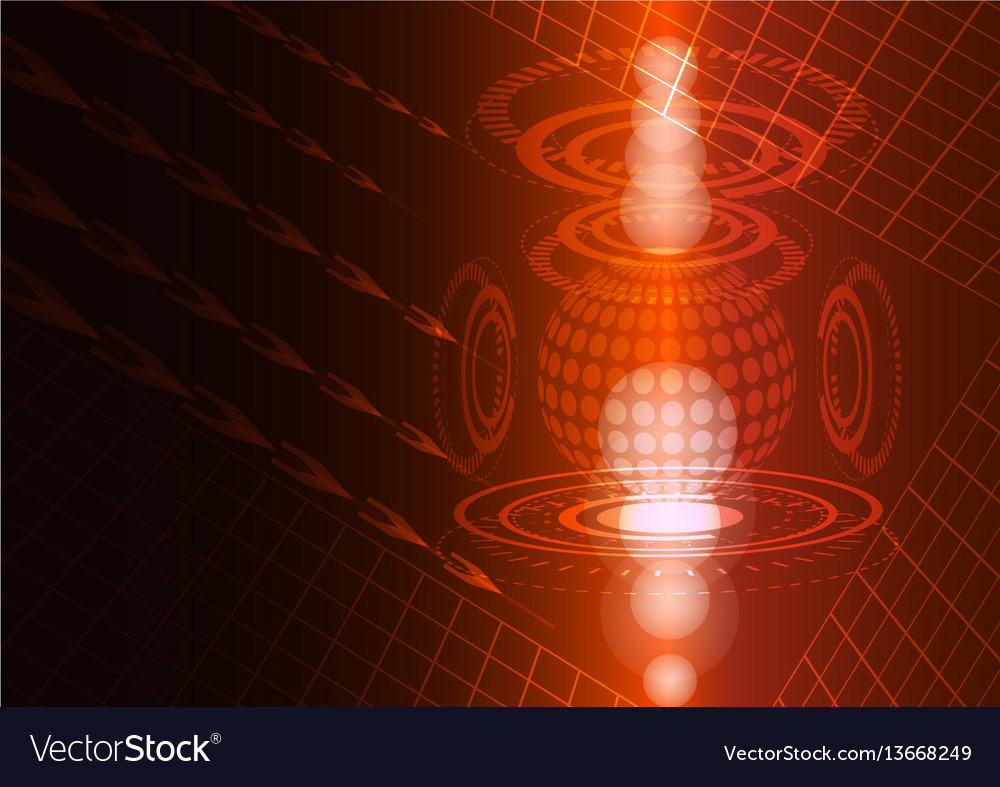 Abstract digital technology red background