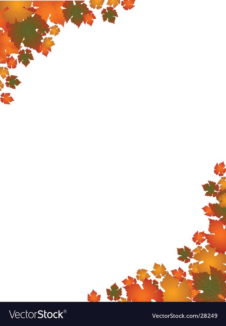 autumn leaf border landscape royalty free vector image