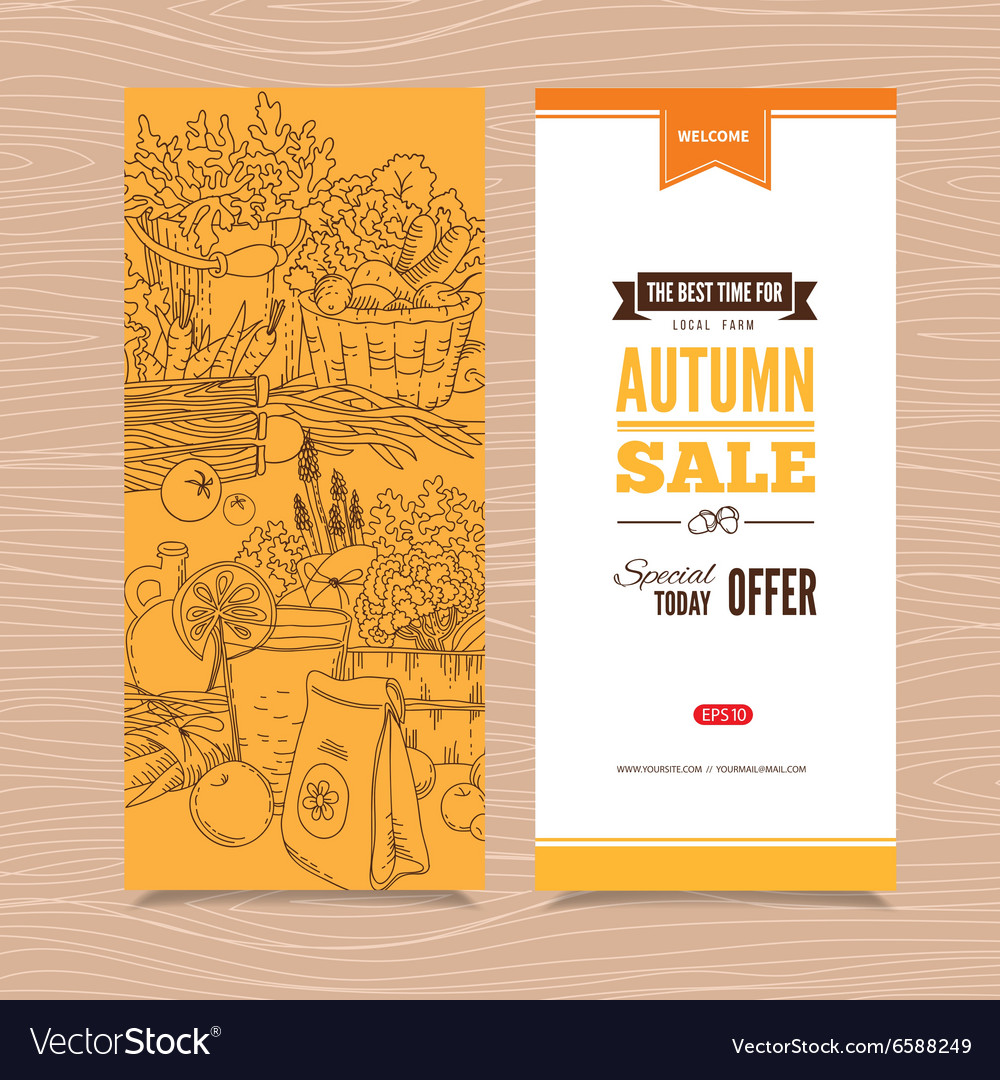 Banner with autumn harvest vector image