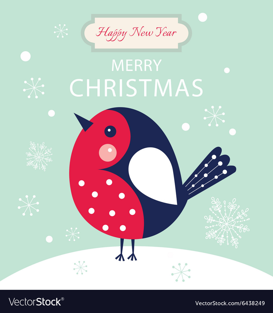 Christmas little Bird