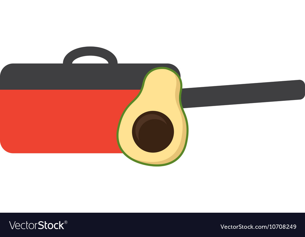 Cooking vegetarian food icon vector image