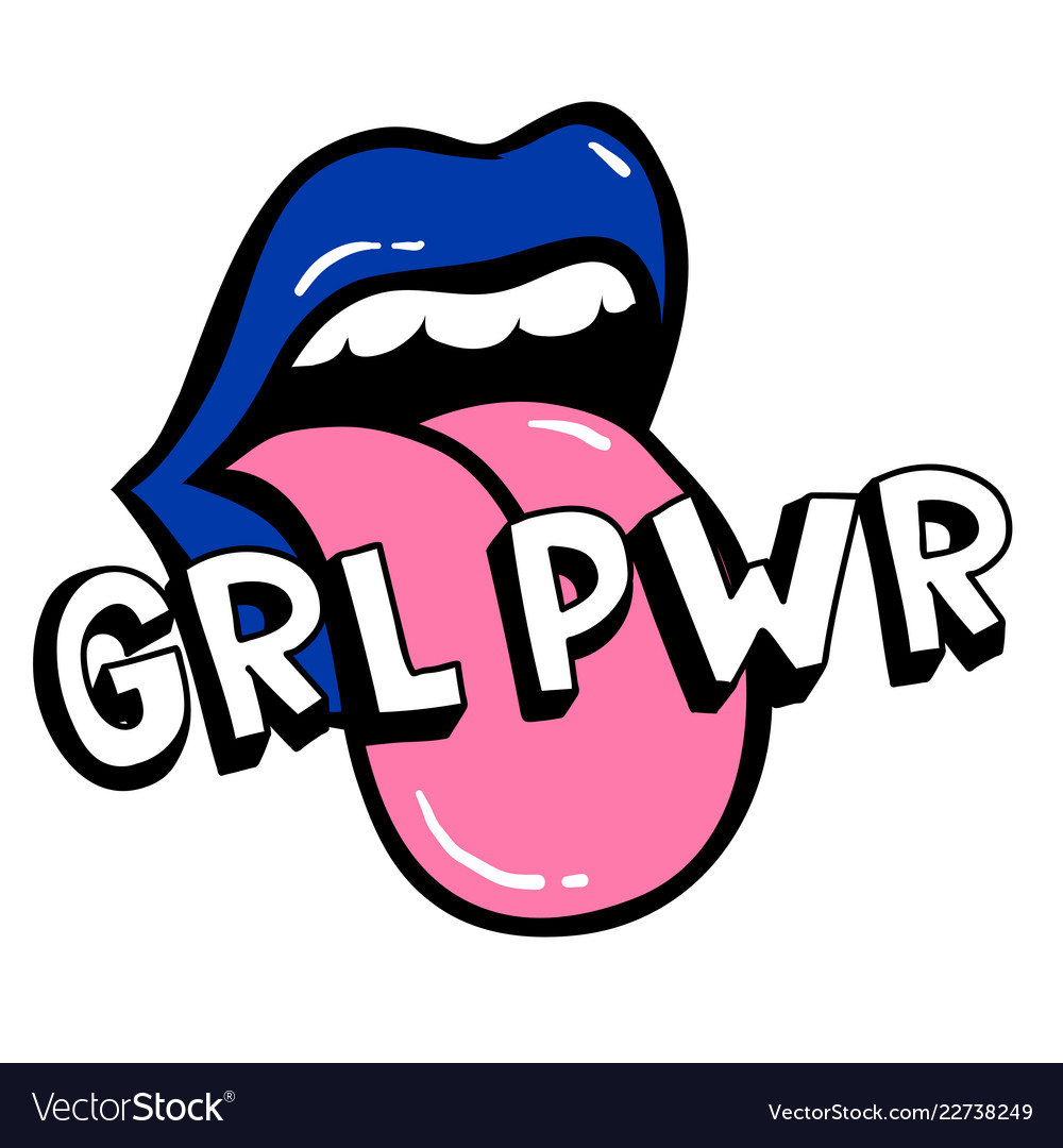 Grl pwr short quote girl power cute hand drawing