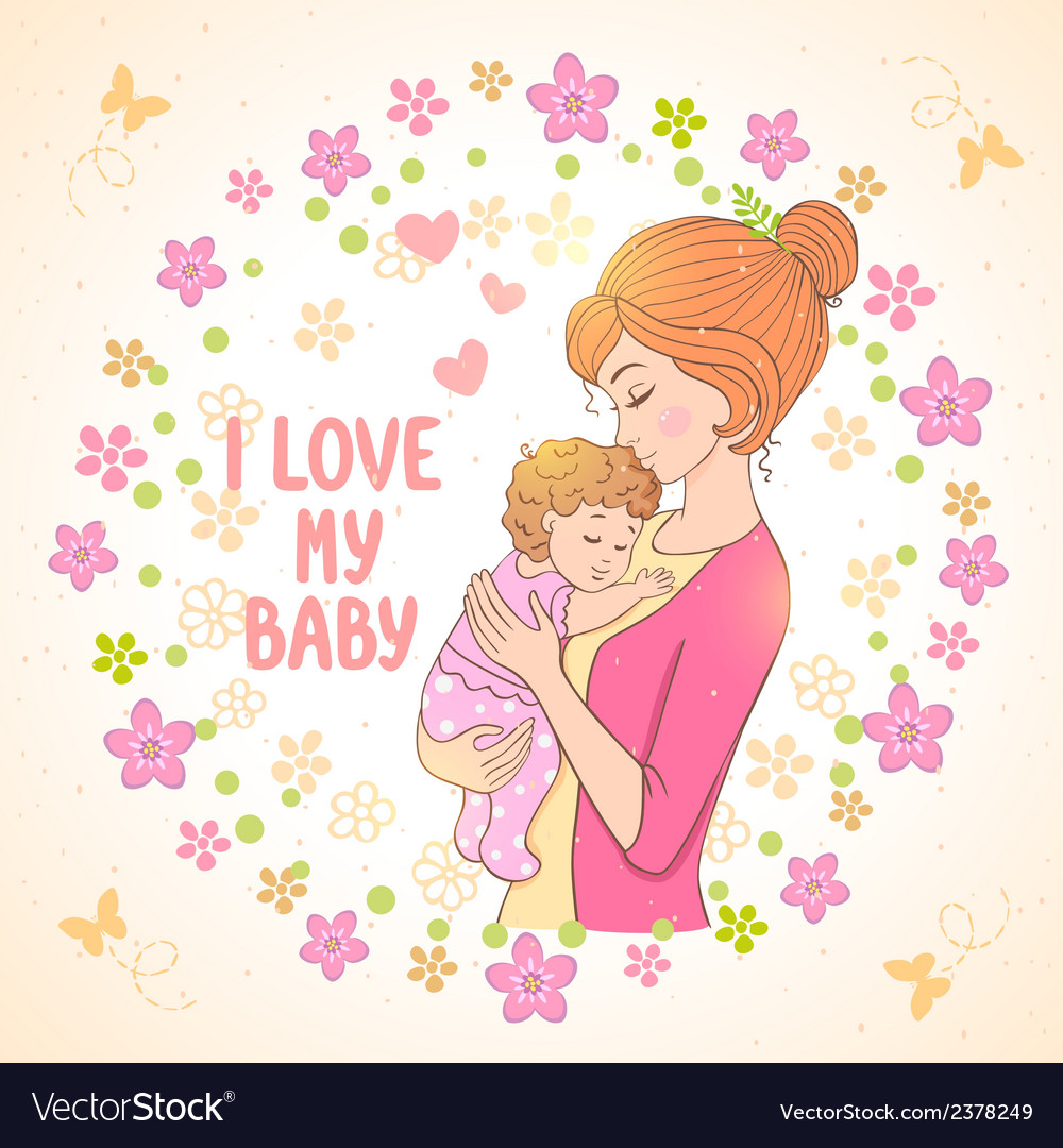Latest Mom And Baby Girl Cartoon Images - coloring pages