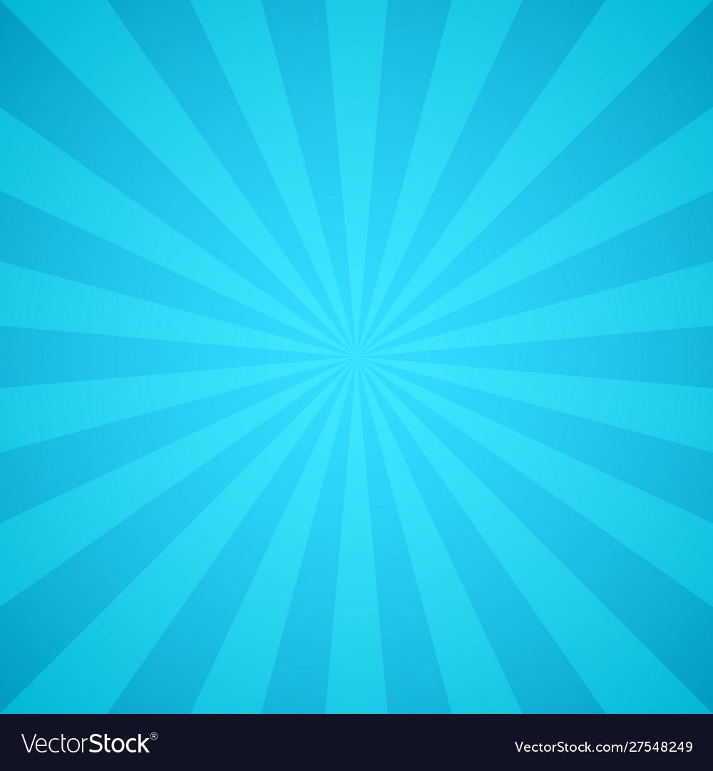 Retro blue rays light colorful sunburst and