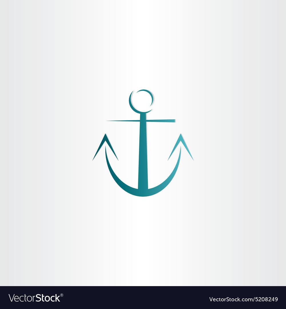 Stylized anchor icon design