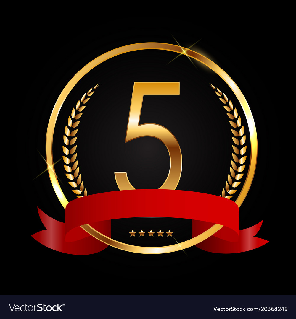 Template Logo 5 Years Anniversary Royalty Free Vector Image
