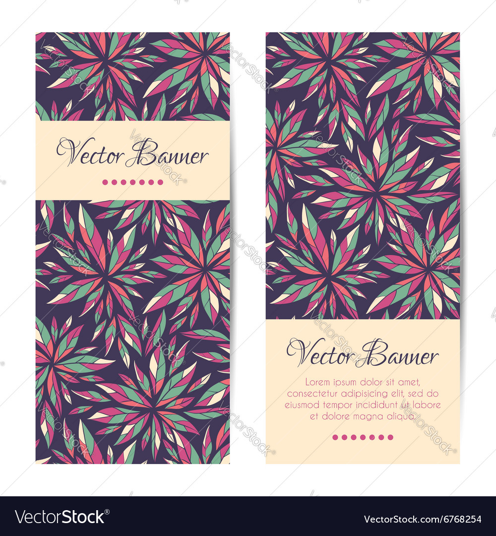 Banners cards brochures set Floral vector image