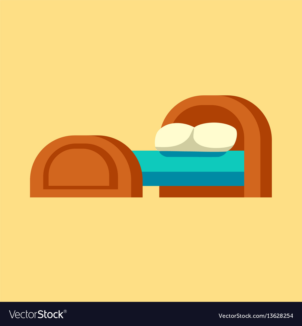 Bed icon isolated furniture