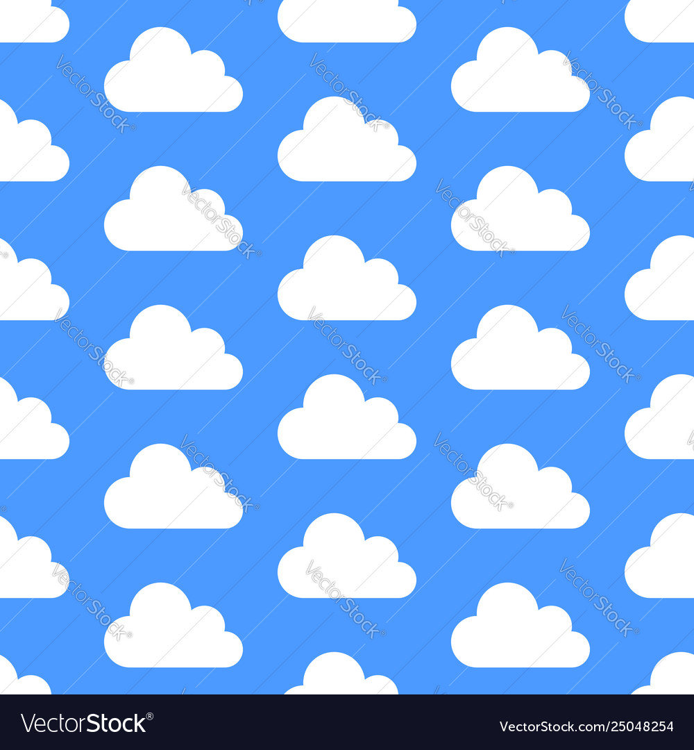 Cloud data storage seamless pattern with icons