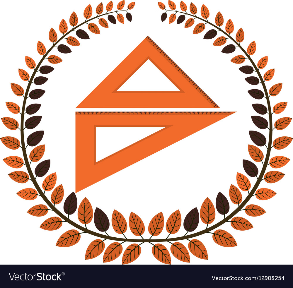 Crown of leaves with rule vector image