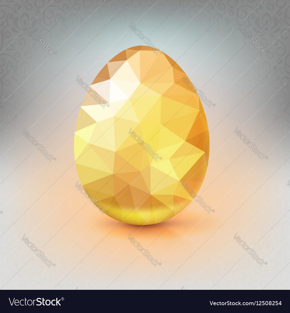 Golden egg from the mosaics pattern triangles