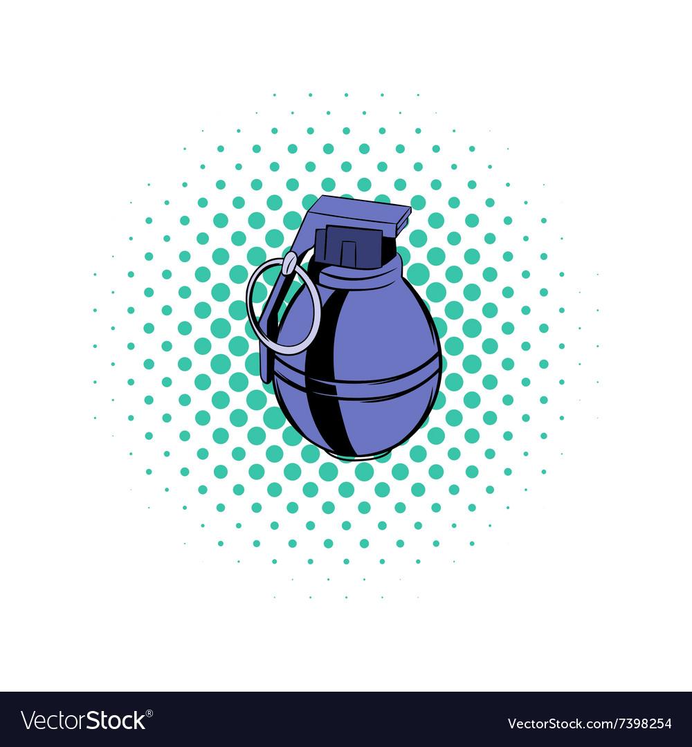 Grenade comics icon vector image