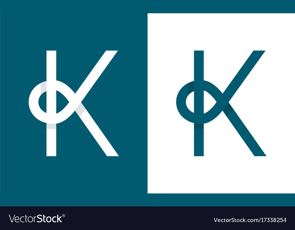 Logo k abstract monogram letter vector image