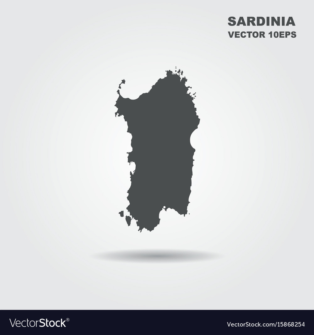 Map Of Sardinia Italy Royalty Free Vector Image