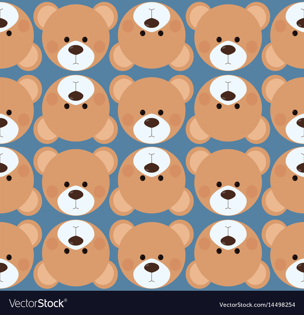 Seamless Pattern Background Tile Cute Teddy Bear