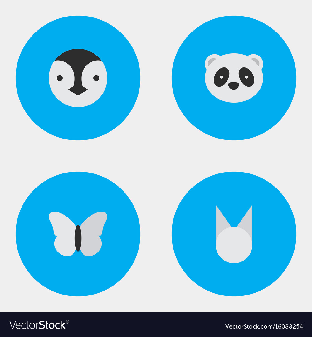 Set of simple animals icons