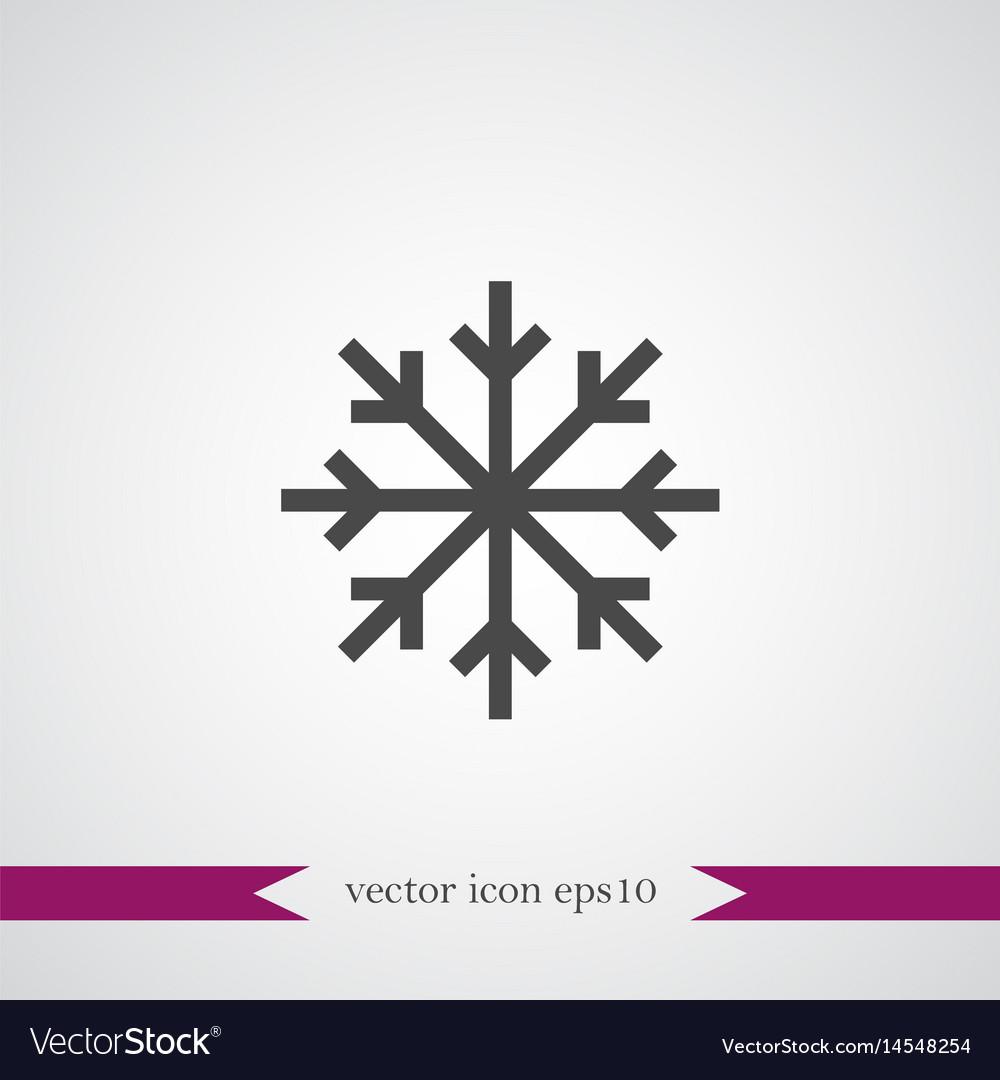Snowflake icon simple