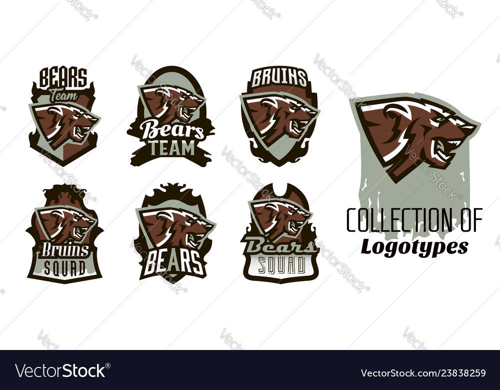 A collection of logos emblems of an aggressive