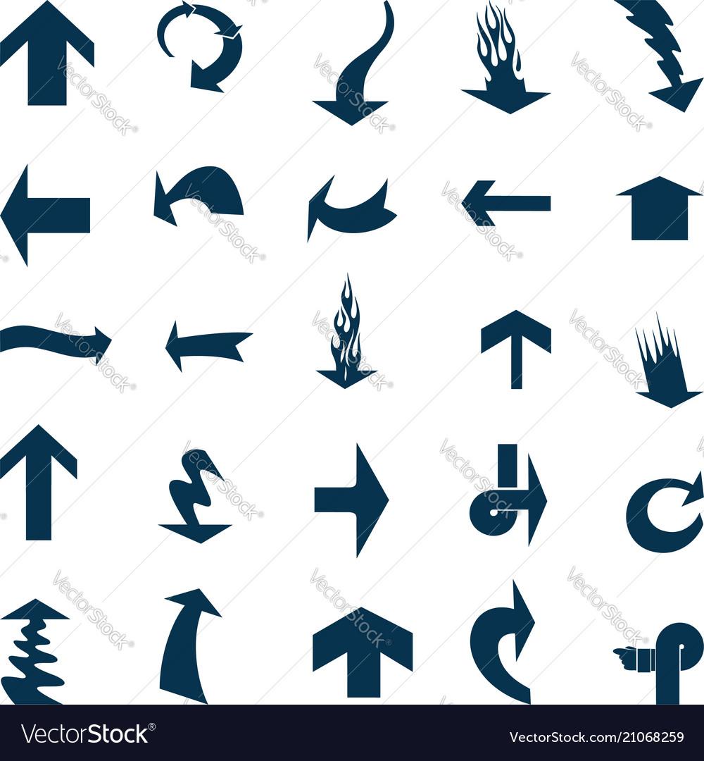 Black arrow icons