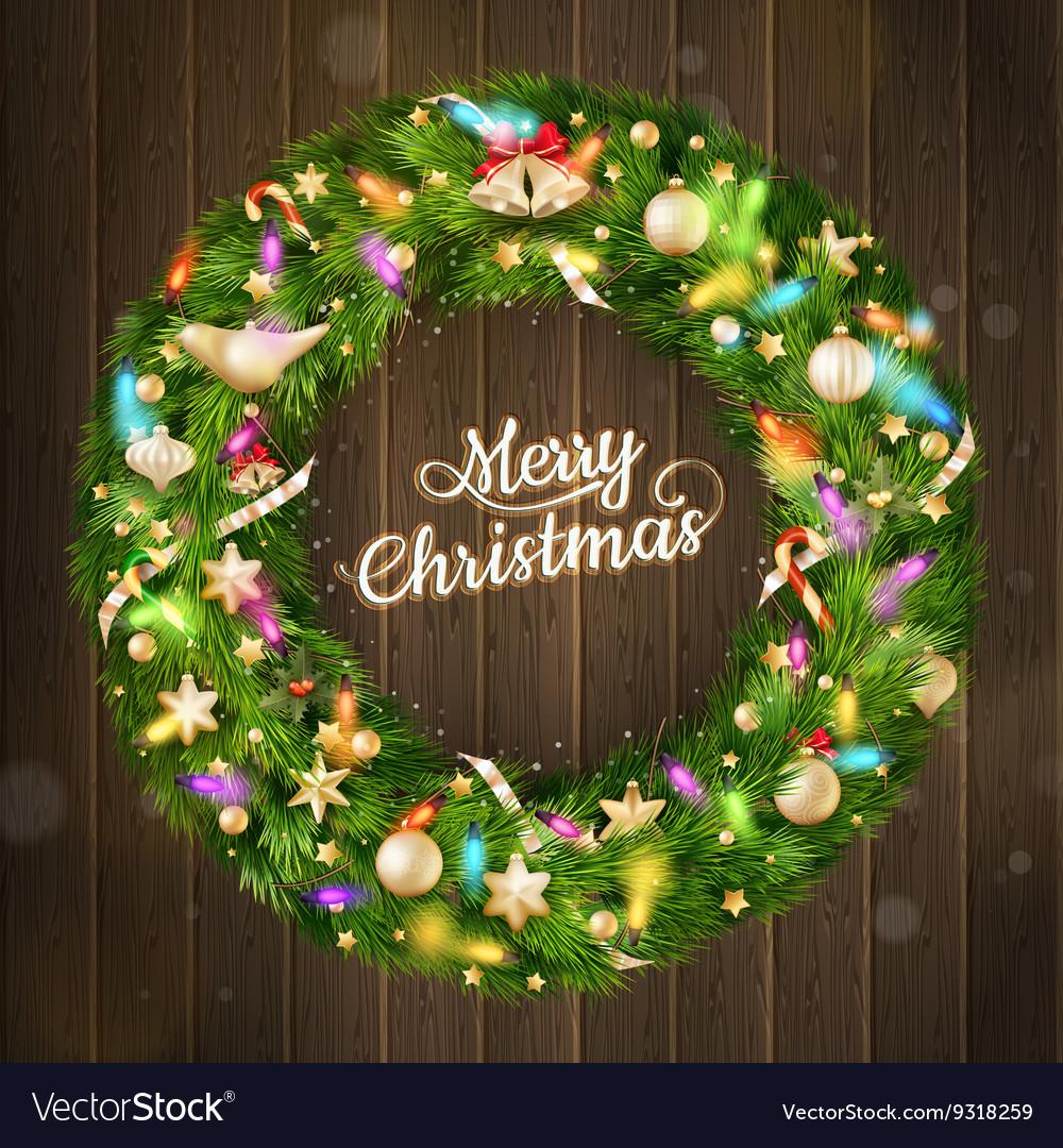 Christmas wreath EPS 10
