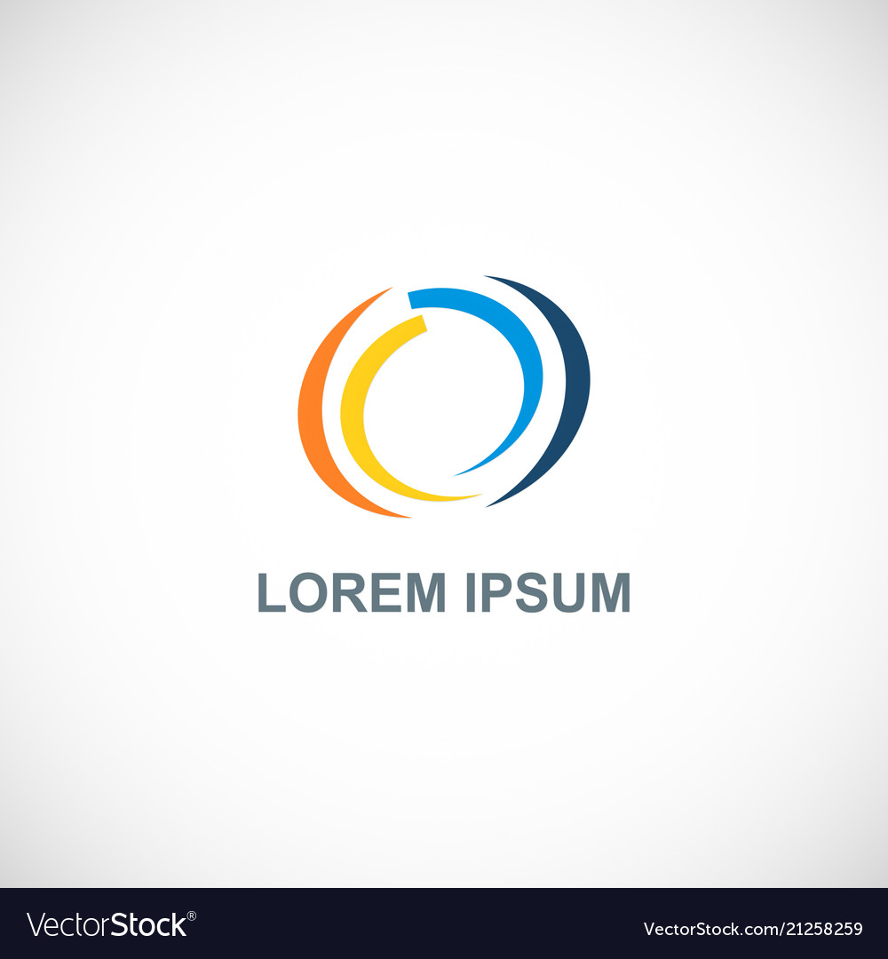 Circle loop colored logo