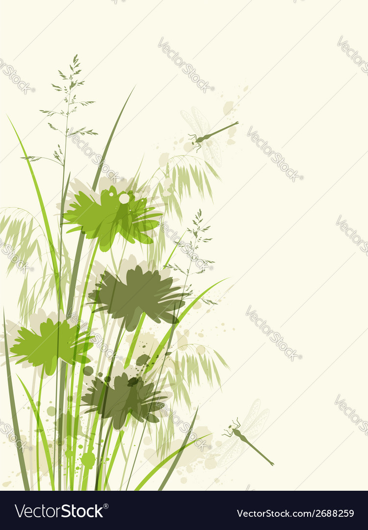 Decorative green floral background