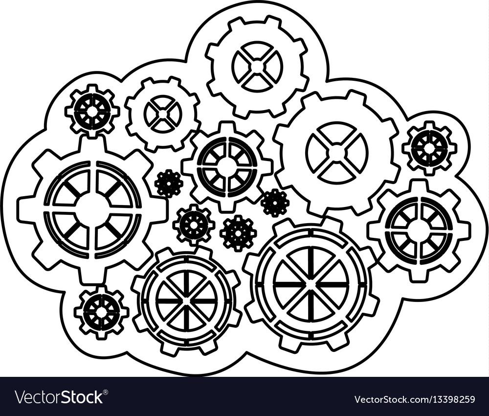Figure gears icon image