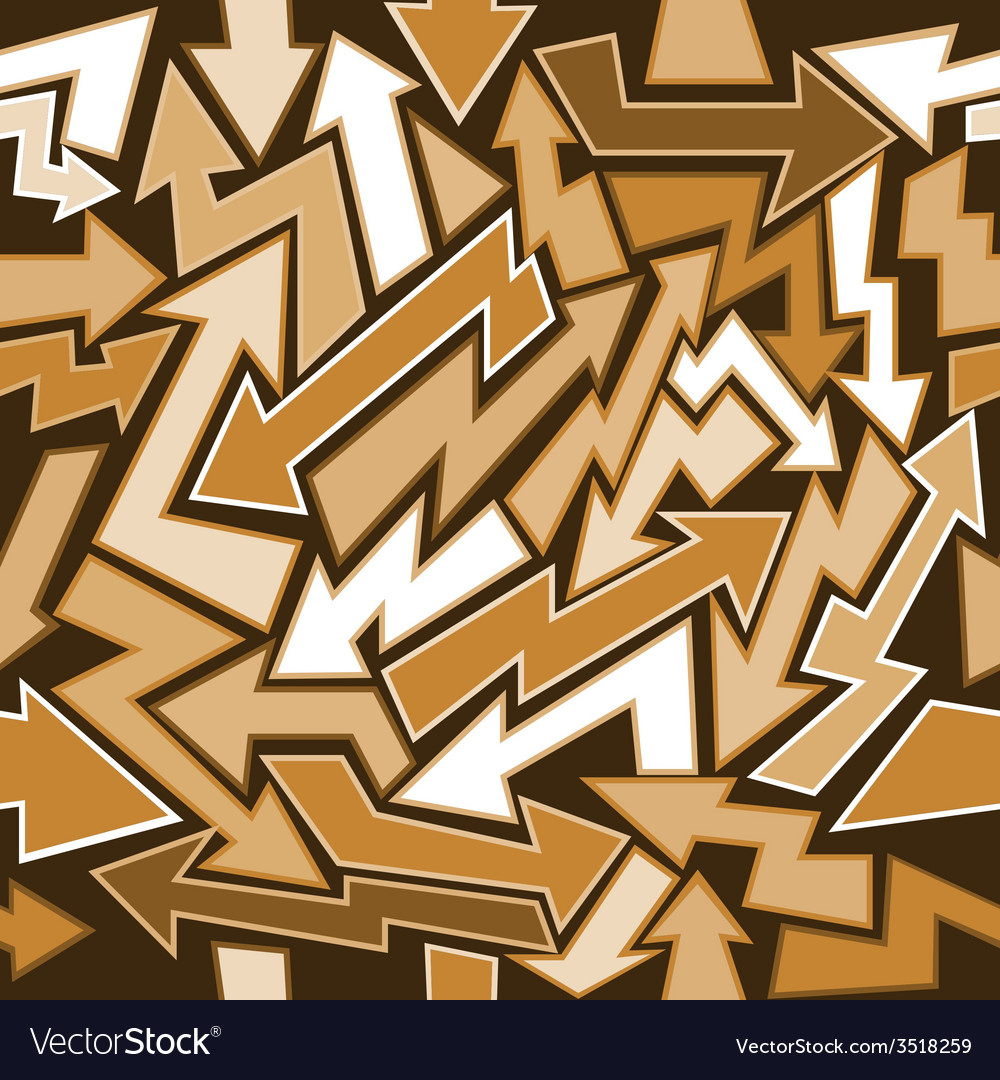 Graffiti arrows seamless background vector image