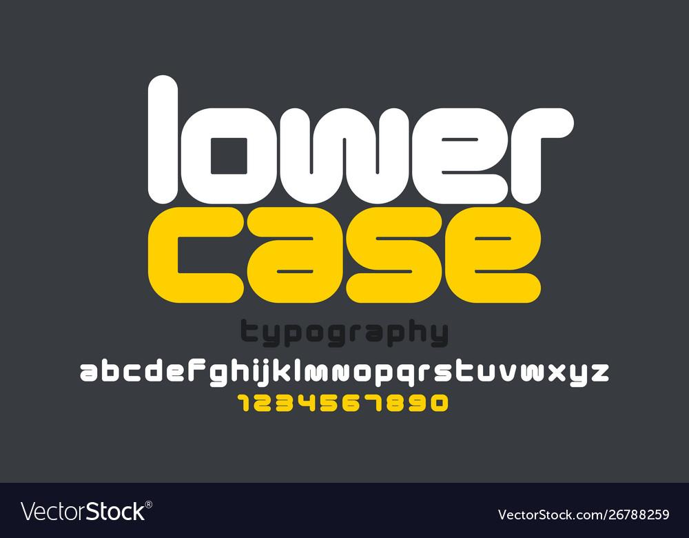Lowercase style modern font design alphabet