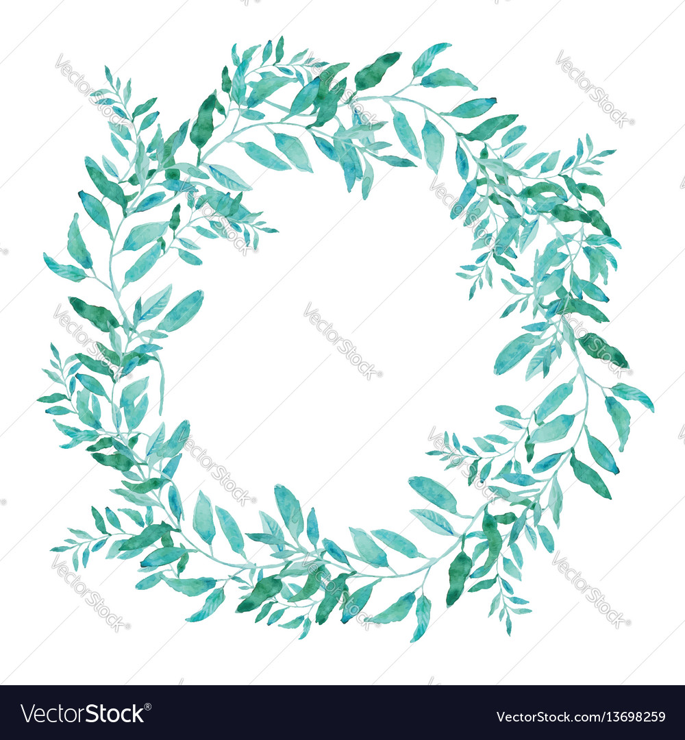 Olive wreath isolated on white background green